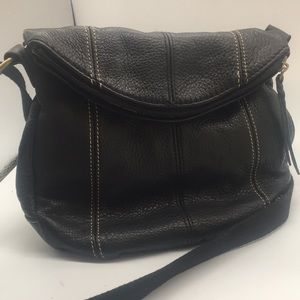 "SAK ""Deena""black leather crossbody"